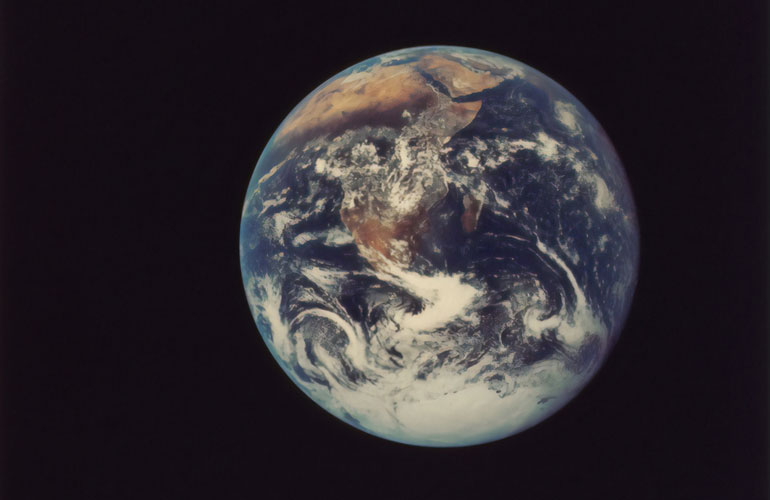 earth as seen from space (c) The New York Public Library