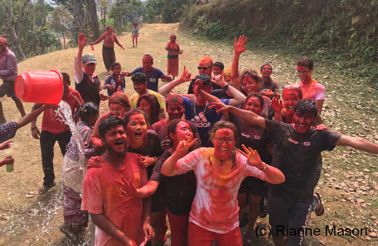 Celebrating Holi in Archale, Gorkha (c) Rianne Mason