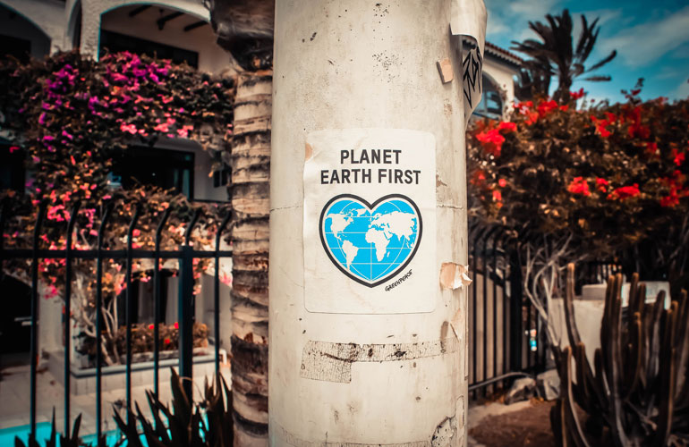 Planet earth first poster (c) Unsplash