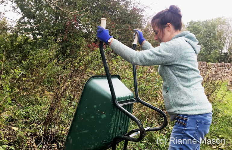 Using a wheel barrow (c) Rianne Mason