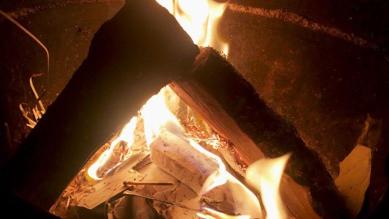 Wood burner at Henbant permaculture farm (c) Rianne Mason