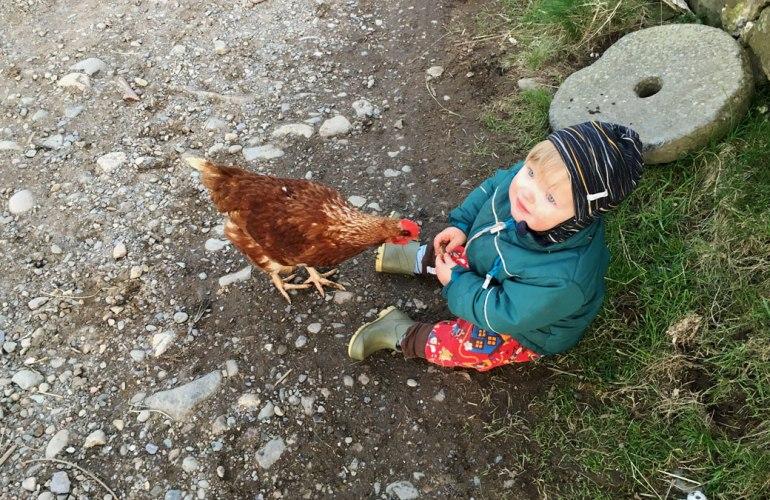 Karl at Henbant permaculture farm (c) Rianne Mason