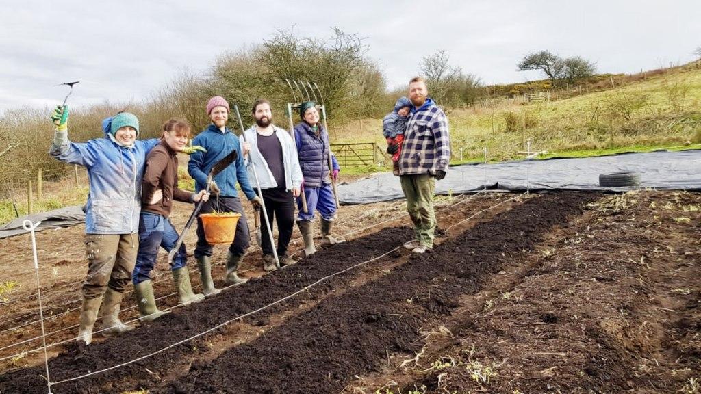 Weeding the Henbant market garden (c) Rianne Mason