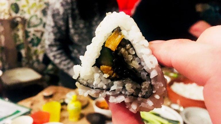 Triangle sushi at Henbant (c) Rianne Mason