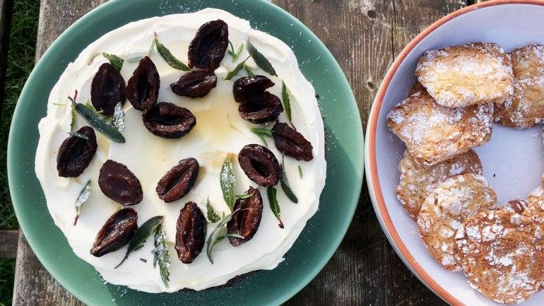 Brazilian honey cake and apricot cookies at Henbant (c) Rianne Mason