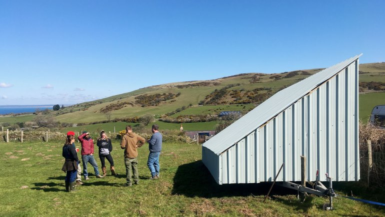 The egg mobile at Henbant Permaculture farm (c) Rianne Mason