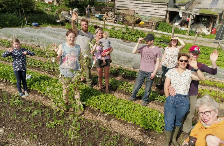 The market garden at Henbant permaculture farm (c) Rianne Mason